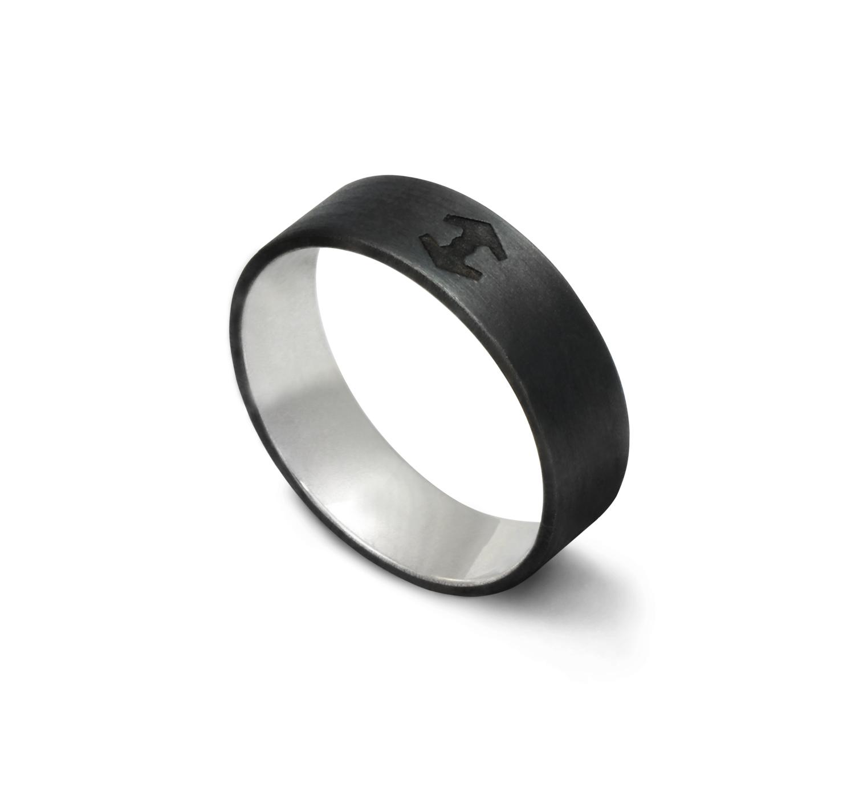 Oxidised Silver HALO ring