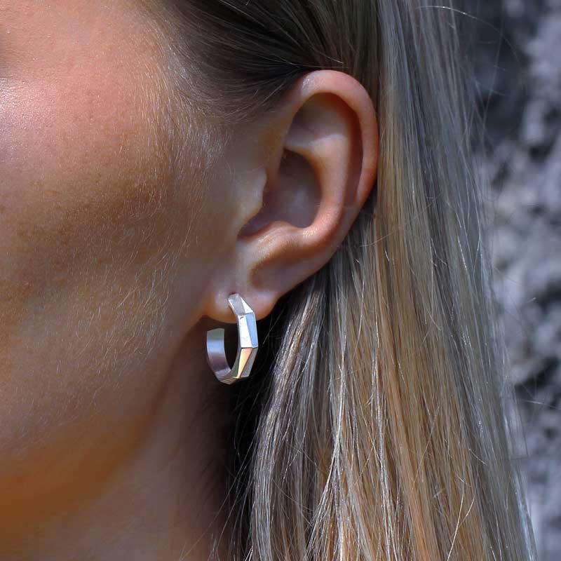 arktis hoop earring silver arktik sterling 935