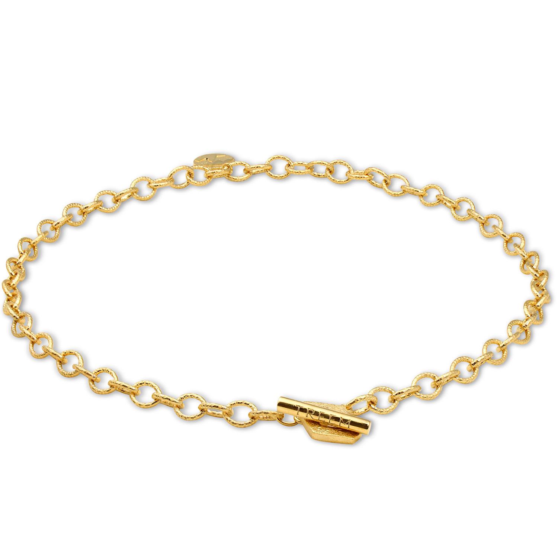 NORDEN Necklace Link Gold Vermeil white