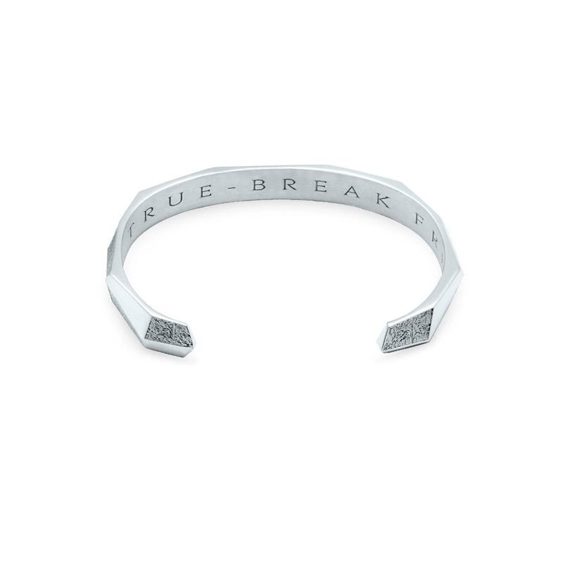 Bangle Bracelet Antarktis Whitegold Ruthenium 18 k