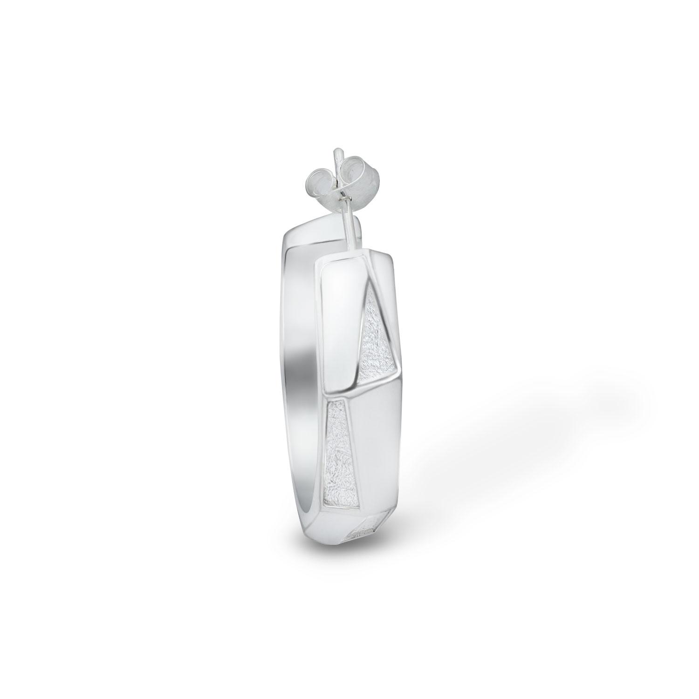 arktis hoop earring silver